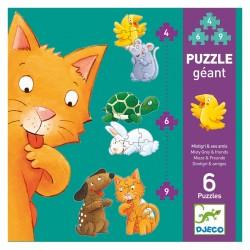 Puzzle Géant : Mistigri et ses amis
