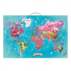 Carte du Monde Poétique magnétique