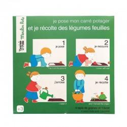 Tapis de graines légumes feuilles (Jardin du Moulin)