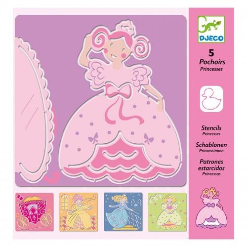 5 Pochoirs : princesses
