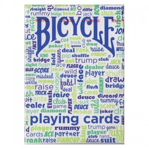 Cartes Bicycle Table Talk Bleu/Rouge
