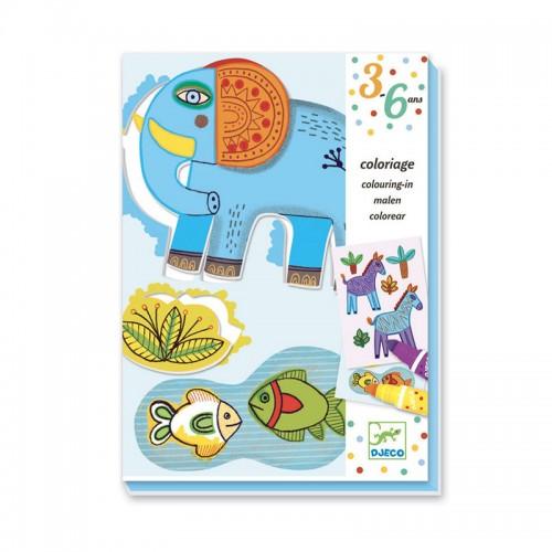 Coloriage pour les petits : Zoo Zoo