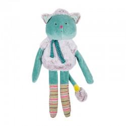 Poupée doudou chat bleu Les Pachats