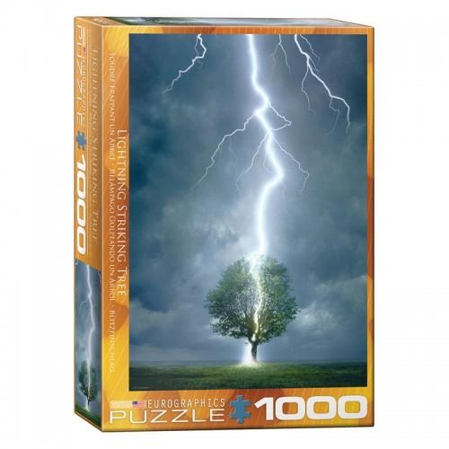 Puzzle Foudre frappant un arbre