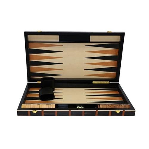 Backgammon marqueté 53cm LE GRAND MAKASSAR