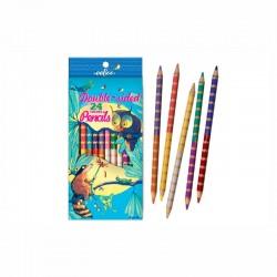 Crayons de couleur double face