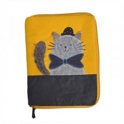 Protège carnet de santé chat gris (Les Moustaches)