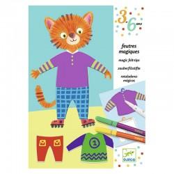 Coloriage pour les petits : les habits d'Elliot et Zoé