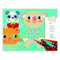 Coloriage pour les petits : Les mimis