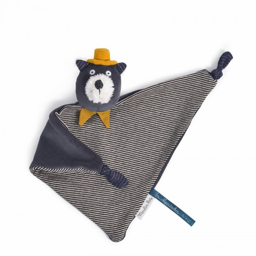 Doudou chat gris Alphonse (Les Moustaches)