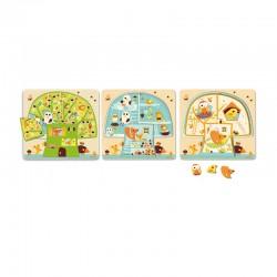 Chez nut : puzzle 3 niveaux cabane dans les bois
