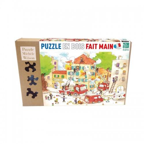 Les Pompiers -Puzzle bois 50p