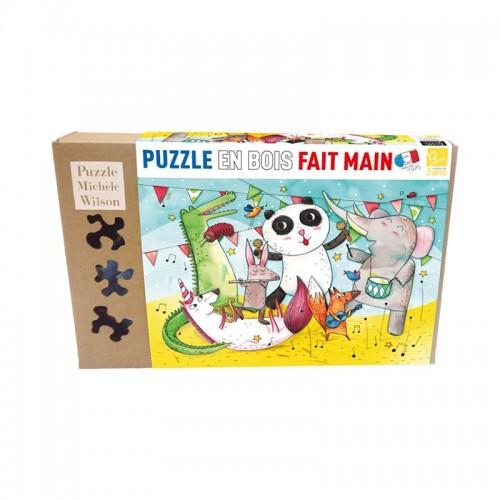 Le concert des animaux -Puzzle bois 12p