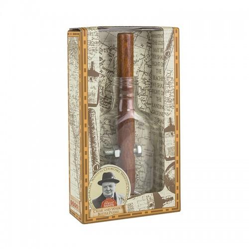 Churchill's Cigar & Whiskey Bottle Puzzle