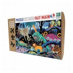 Nuit dans la jungle -Puzzle bois 50p