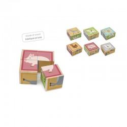 Puzzle 4 cubes ferme