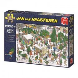 Le marché de sapins de Noël (Jan Van Haasteren)