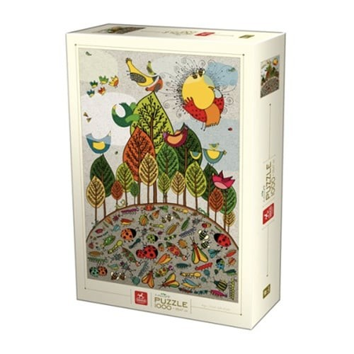 Puzzle D-toys nature Birds and Bugs 1000p