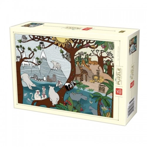 Puzzle D-toys nature Summer and Winter 1000p