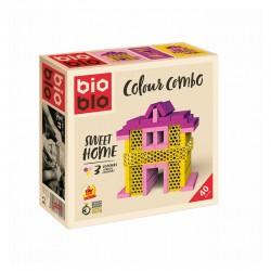 Bioblo Mini Box 40 briques rose jaune