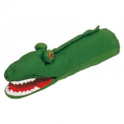 Marionnette en tissu crocodile
