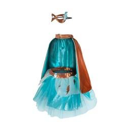Tunique Super Héroïne Turquoise 4-6 ans