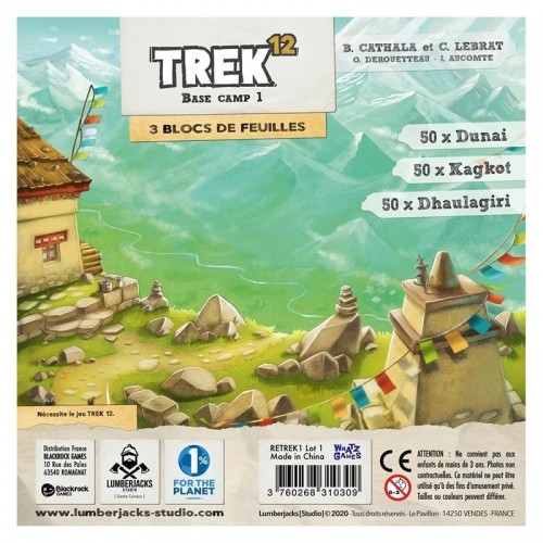 Trek 12 base Camp 1 (bloc de feuilles)