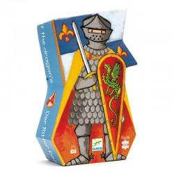 Puzzle silhouette : Le chevalier au dragon