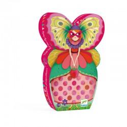 Puzzle silhouette : La demoiselle papillon