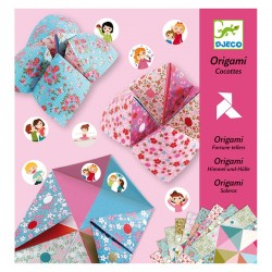 Origami cocotte à gages - fleurs