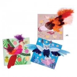 Tableaux de plumes : duvets chics