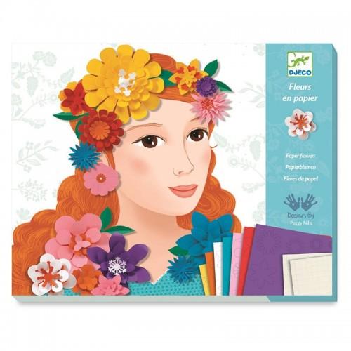 Fleurs en papier : Jeunes filles en fleurs