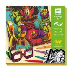 Feutres pinceaux : Funny Freaks 3D