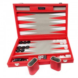 Backgammon Premium 48 rouge/blanc