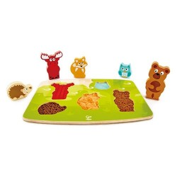 Puzzle tactile - animaux de la forêt