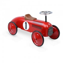 Porteur voiture vintage rouge