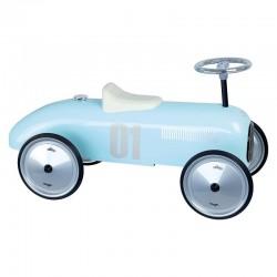 Porteur voiture vintage bleu tendre
