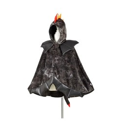 Cape Dragon Noir 4-7 ans