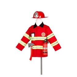 Pompier Tenue + Casque + Accessoires 4-7 ans
