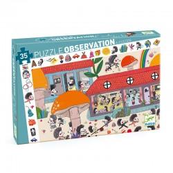 Puzzle Observation : L'école des hérissons