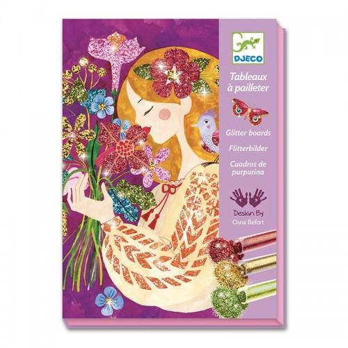 Tableaux à pailleter: Le parfum des fleurs