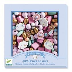 Perles en bois : Arc-en-Ciel