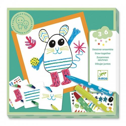 Coloriage pour les petits : Ensemble animaux rigolos