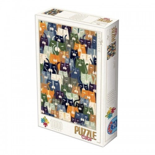 Puzzle D-toys andrea kurti-cats 1000p