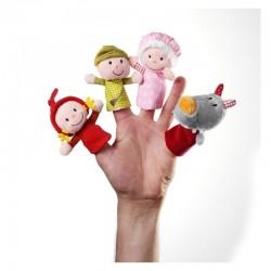 Chaperon rouge marionnettes à doigts