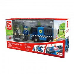 Voiture de police avec sirène