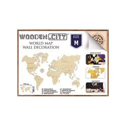 Wooden City Carte du Monde M