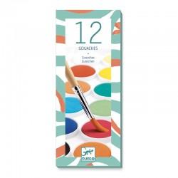 Peinture : 12 pastille gouache classique