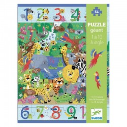 Puzzle Géant : 1 à 10 Jungle