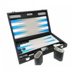 Backgammon Premium 48 bleu/blanc